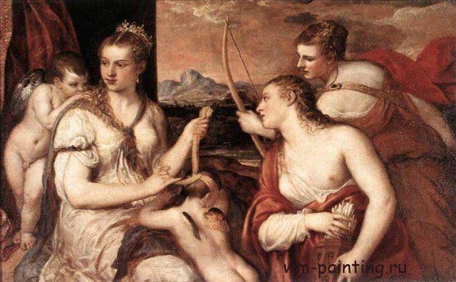 Воспитание Амура :: Тициан - Tiziano Veccellio фото