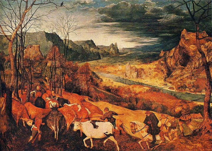 Возвращение стад (Осень) :: Питер Брейгель - Pieter Bruegel de Oude фото
