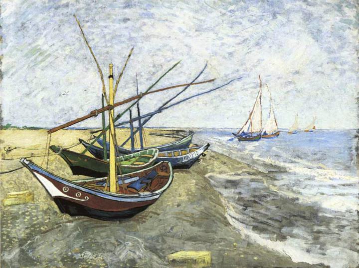 Рыбачьи лодки в Сент-Мари, Ван Гог ( Франция ) - Van Gogh фото