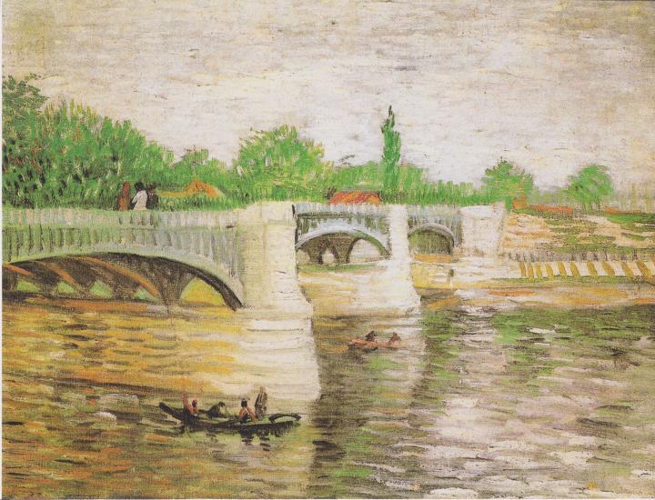 картина Мост через Сену ::  Ван Гог - Van Gogh фото