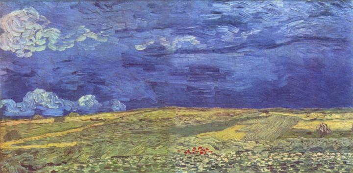 пейзаж Поле под грозовым небом :: Ван Гог - Van Gogh фото