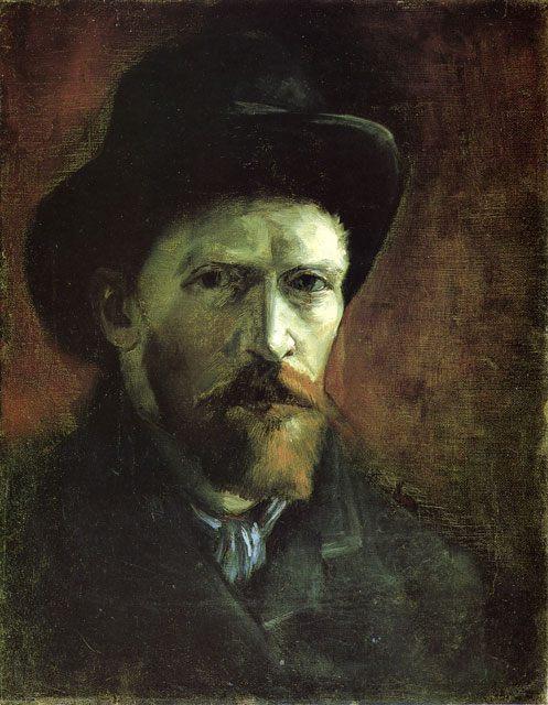 Автопортрет в темной фетровой шляпе ::  Ван Гог - Van Gogh фото
