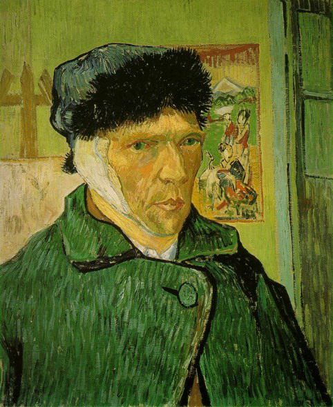 Автопортрет с перевязанным ухом, Ван Гог - Van Gogh (Ван Гог) фото