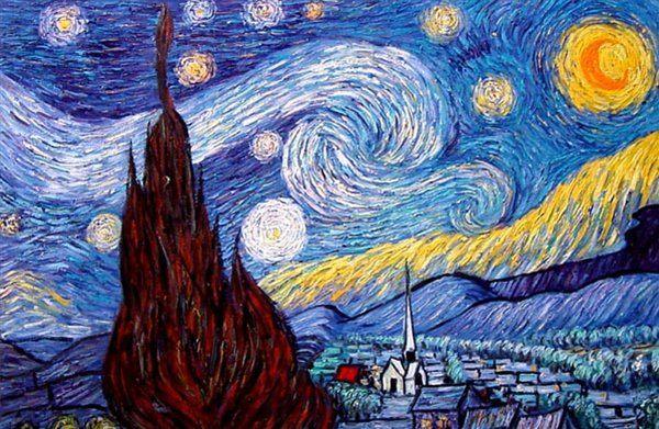 Звёздная ночь ( копия ) - Van Gogh фото