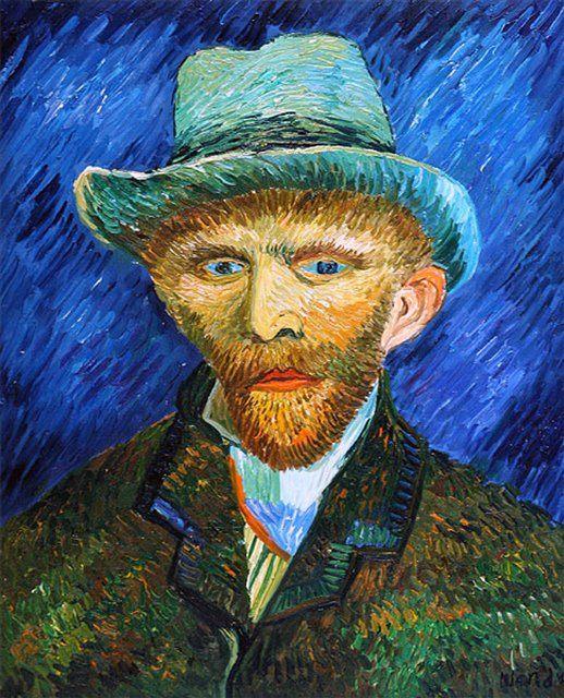 Ван Гог Автопортрет в серой шляпе ( копия ) - Van Gogh (Ван Гог) фото