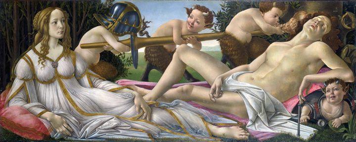 картина Венера и Марс ::  Боттичелли Сандро - Sandro Botticelli фото