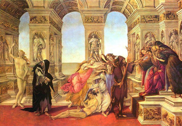 картина Клевета :: Боттичелли Сандро - Sandro Botticelli фото