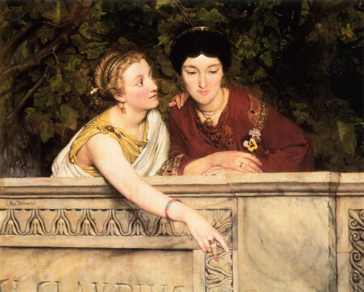 картина Галло-романские женщины :: Альма-Тадема, описание картины - Lourens Alma Tadema фото