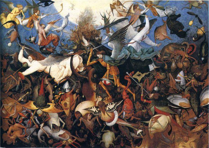 картина Падение мятежных ангелов ::  Брейгель Питер - Pieter Bruegel de Oude фото