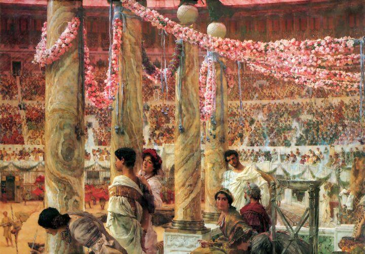 картина Каракалла и Гета (Коллизей) :: художник Альма-Тадема - Lourens Alma Tadema фото