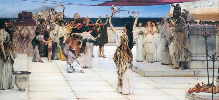 картина Посвящение Бахусу :: Альма-Тадема Сэр Лоуренс - Lourens Alma Tadema фото