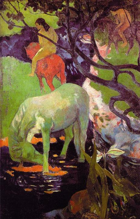 "жанровая картина  ""Белая лошадь"" :: Поль Гоген - Paul Gauguin фото"