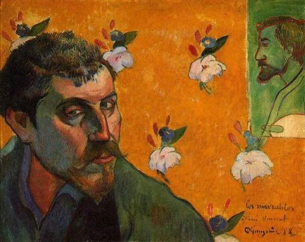 """Автопортрет """"Les Miserables"""" (отверженные) :: Гоген Поль, описание картины  - Гоген Поль ( Paul Gauguin ) фото"""