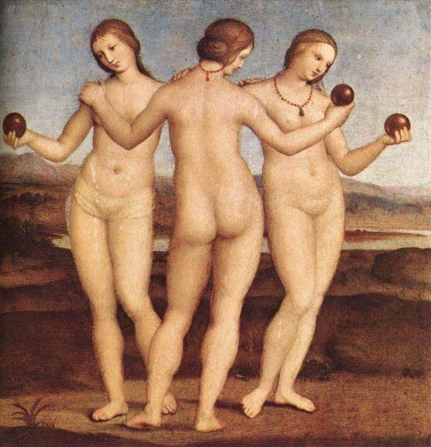 картина Три грации :: Рафаэль Санти, описание картины - Raffaello Santi фото