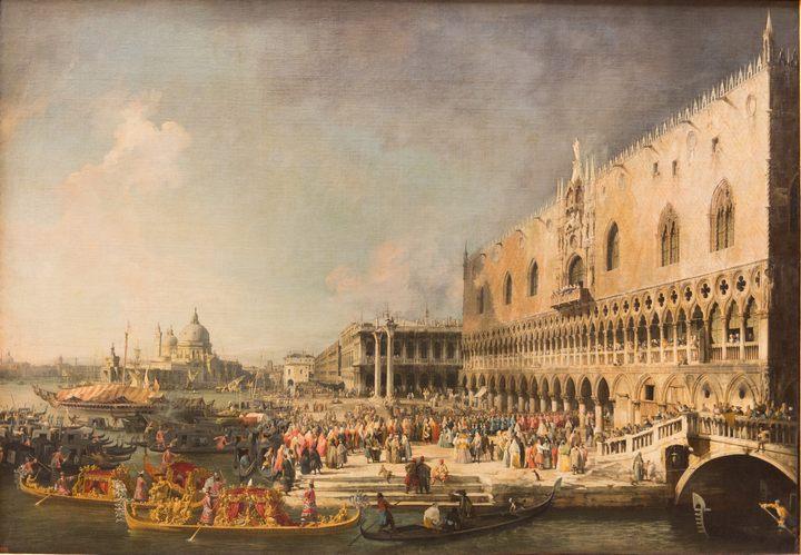 Приём французского посла в Венеции :: Каналлетто - Каналетто  [ Джованни Антонио Канал) ] фото