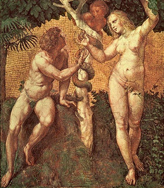 Адам и Ева, мозаика :: Рафаэль Санти - Raffaello Santi фото