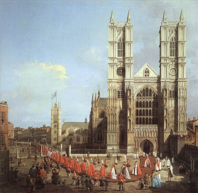 Лондон. Вестминстерское аббатство и процессия рыцарей, Каналетто - Canalletto фото