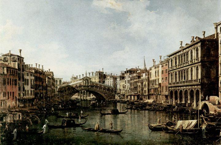 Мост Риальто с южной стороны - Каналетто  [ Джованни Антонио Канал) ] фото