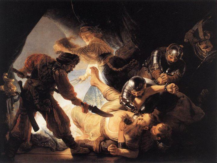 Ослепление Самсона :: Рембрандт, описание картины  - Rembrandt (Рембрандт) фото
