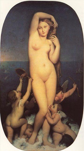 Венера Анадиомена, Энгр - Jean Auguste Dominique Ingres фото