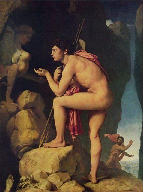 Эдип и Сфинкс :: Энгр Жан Огюст Доминик - Jean Auguste Dominique Ingres фото