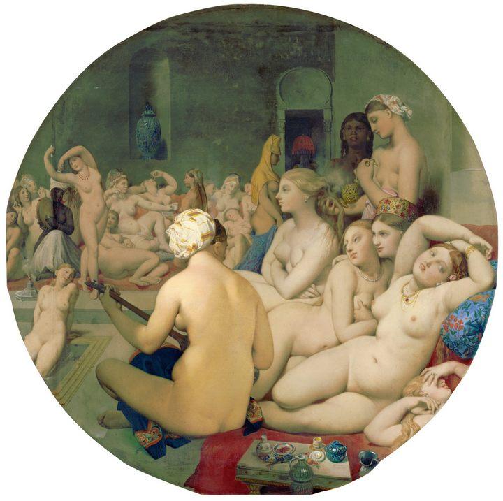 Турецкая баня ::  Энгр Жан Огюст Доминик ( Франция) - Jean Auguste Dominique Ingres фото