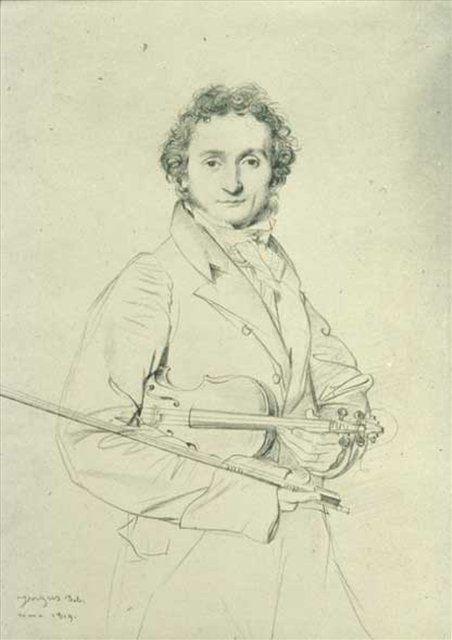 Портрет Паганини, Энгр - Jean Auguste Dominique Ingres фото
