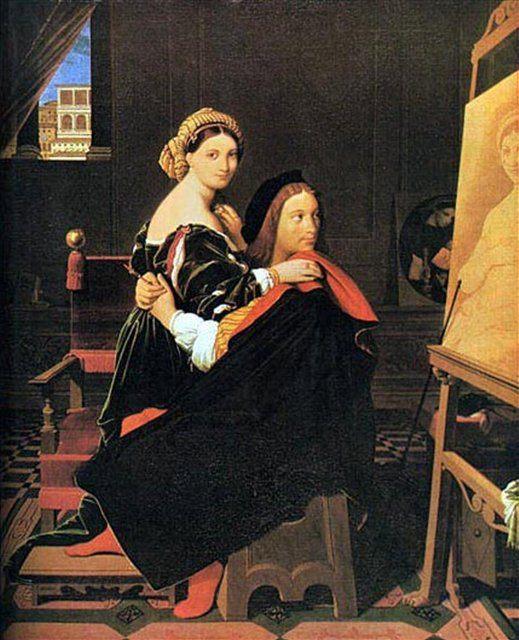 Рафаэль и Форнарина :: Энгр, описание картины  - Jean Auguste Dominique Ingres фото