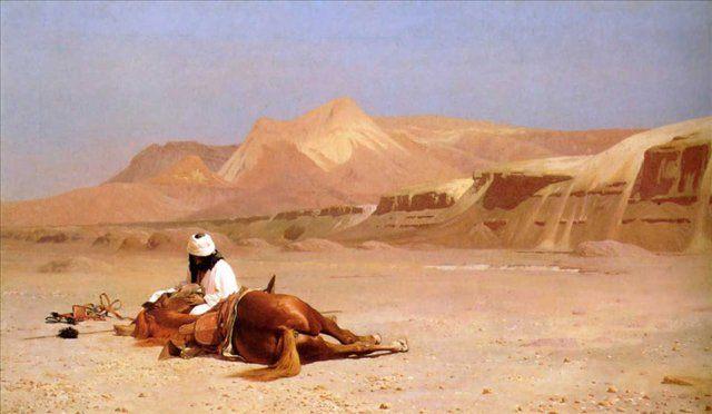 Араб и скакун, Жером Жан-Леон - Gerome Jean-Leon фото