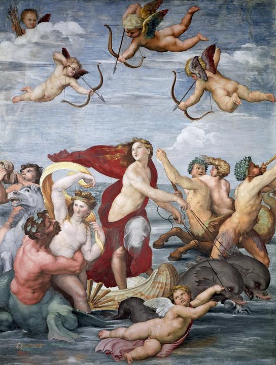 картина Триумф Галатеи :: Рафаэль Санти, описание картины - Raffaello Santi фото