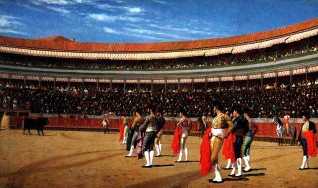 Плаца де Торос, введение быка :: Жероме Жан Леон - Gerome Jean-Leon фото