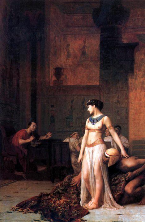 Клеопатра перед цезарем - Gerome Jean-Leon (Жером Жан-Леон) фото
