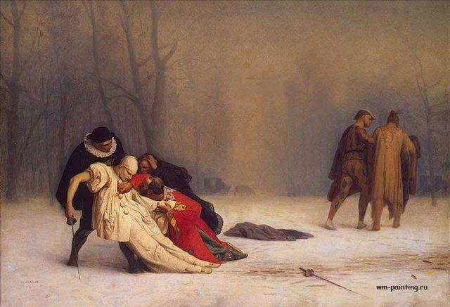 картина <Дуэль, после карнавала> :: Жероме Жан Леон - Gerome Jean-Leon фото