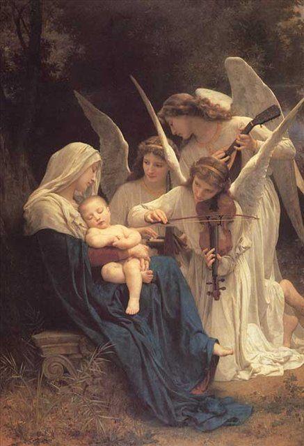 Песня ангелов ( мадонна с ангелами ) :: Адольф Бугеро - Adolphe William Bouguereau фото