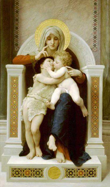 Мадонна, Иисус и Иоан Креститель, Уильям Бугеро - Adolphe William Bouguereau фото