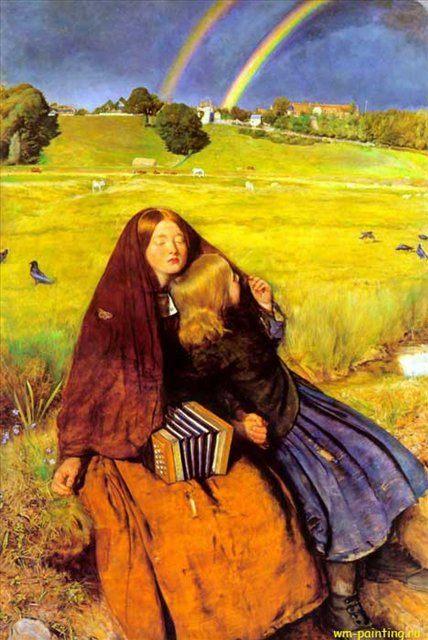 Слепая девочка, Джон Эверет Милес - Millais, John Everett фото