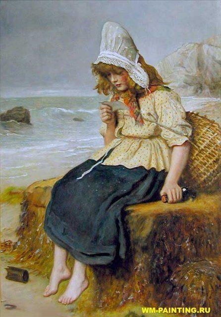 Послание с моря, Милесс - Millais, John Everett фото