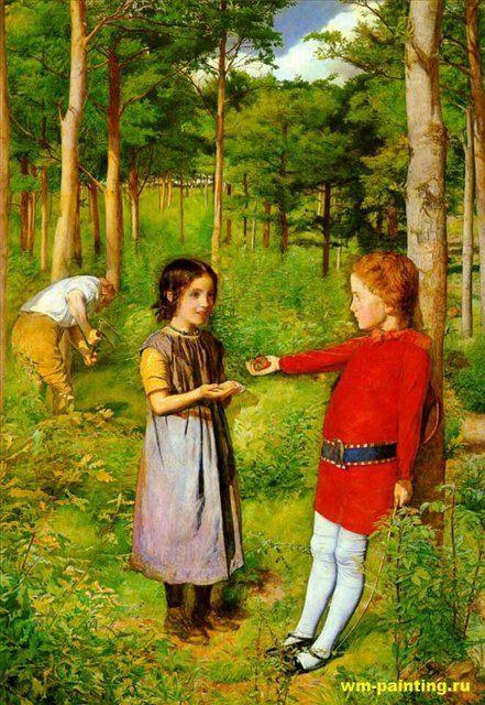 Дочь лесника, Милес - Millais, John Everett фото