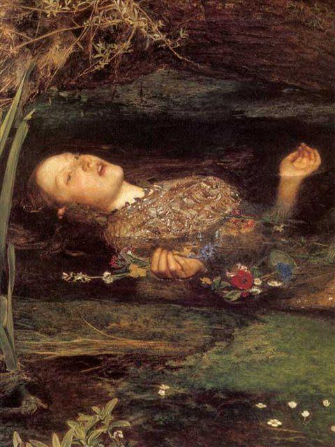 Офелия ( деталь ), Милес - Millais, John Everett фото