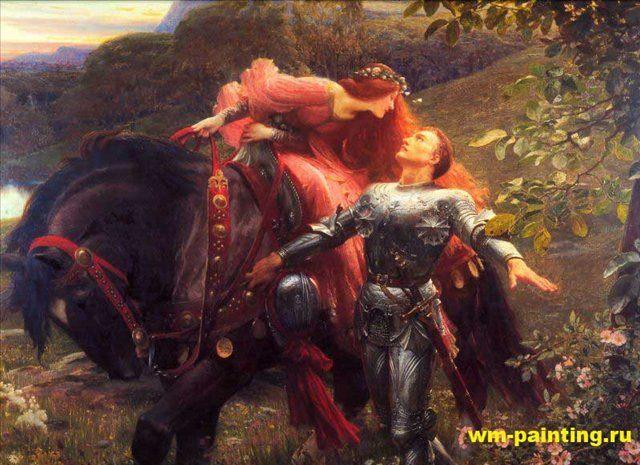 картина Красивая безжалостная леди :: Фрэнк Дикси - Dicksee, Sir Frank Bernard фото