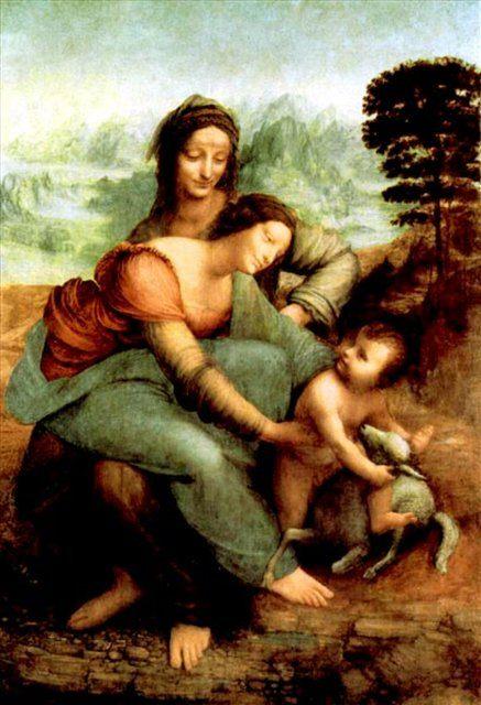 Дева и младенец с св.Анной - da Vinci Leonardo фото