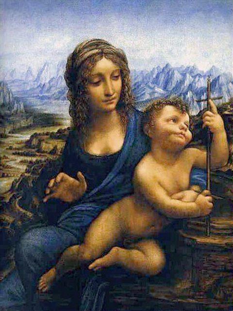 Мадонна с младенцем :: Леонардо да Винчи - da Vinci Leonardo фото