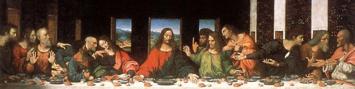 """Реставрационная версия фрески """"Тайная вечеря"""" - da Vinci Leonardo фото"""