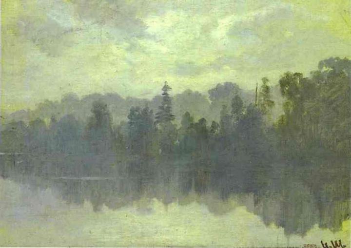Остров крестовский, погружённый в туман :: Шишкин Иван Иванович - Ivan Shishkin фото