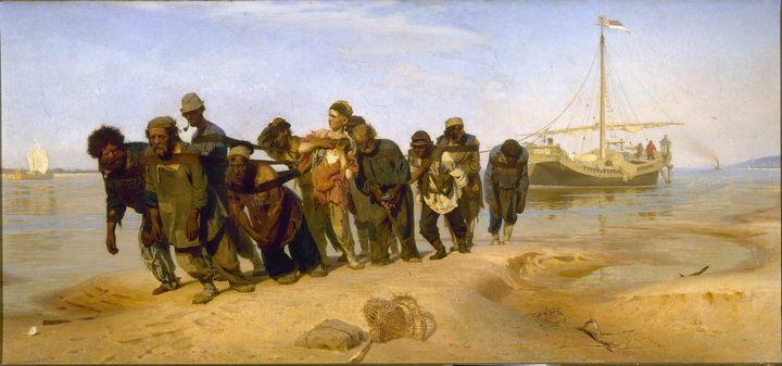 картина Бурлаки на Волге :: Репин Илья Ефимович - Ilya Yefimovich Repin фото