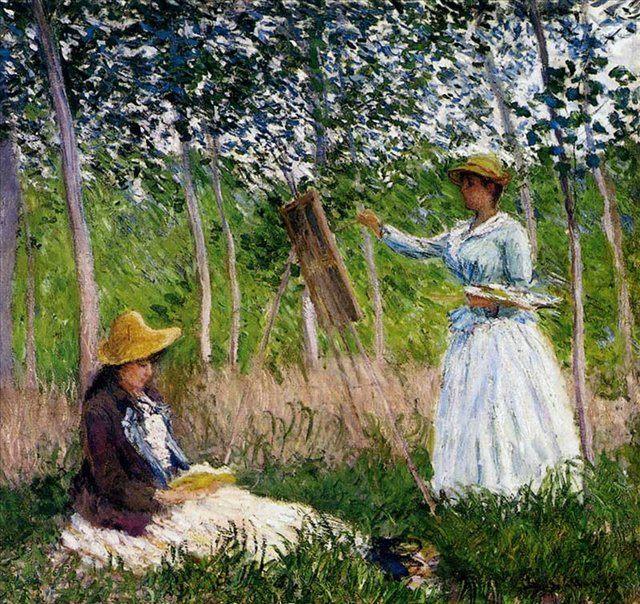 В лесах Живерни  :: Клод Моне (1840-1926) (Франция ) - Пейзаж ( пейзажная живопись ) фото