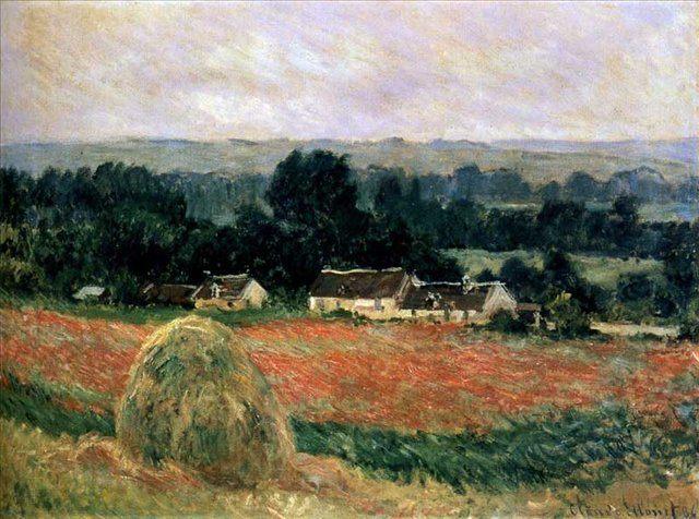 Стог в Живерни :: Клод Моне (1840-1926) (Франция ) - Пейзаж ( пейзажная живопись ) фото