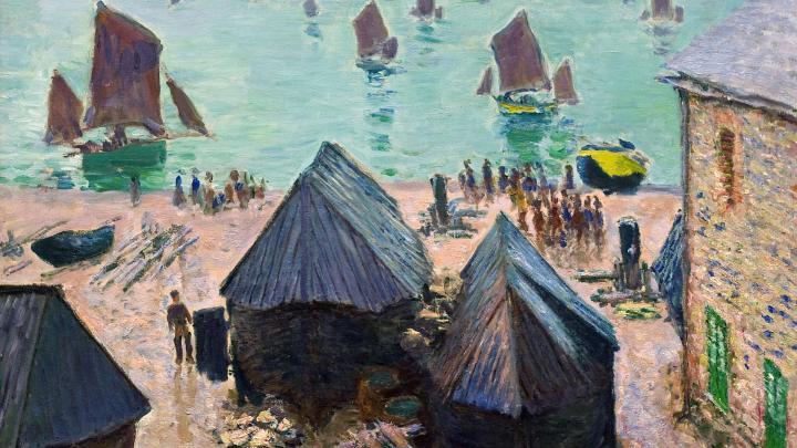 """прибрежный пейзаж """"Лодки уходят"""" :: Клод Моне - Море в живописи ( морские пейзажи, seascapes ) фото"""