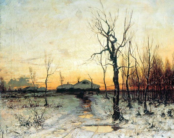 картина Зима :: Клевер, Юлий Юльевич, зимний пейзаж - Klever Yuliy фото