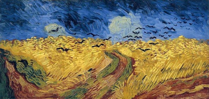 Пшеничное поле с воронами :: Ван Гог, описание картины - Van Gogh фото